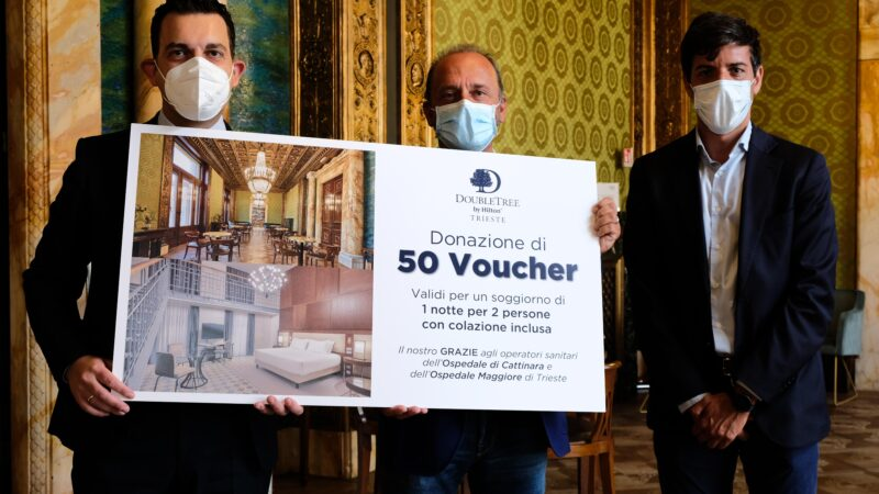 DoubleTree by Hilton Trieste donates 50 overnight stays to hospitals in Trieste
